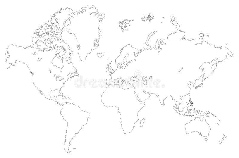 мир конспектированный картой иллюстрация вектора