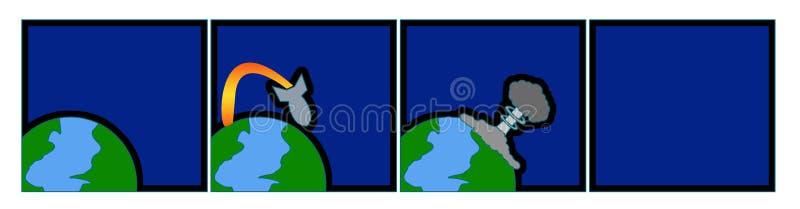 мир конца как раз иллюстрация вектора