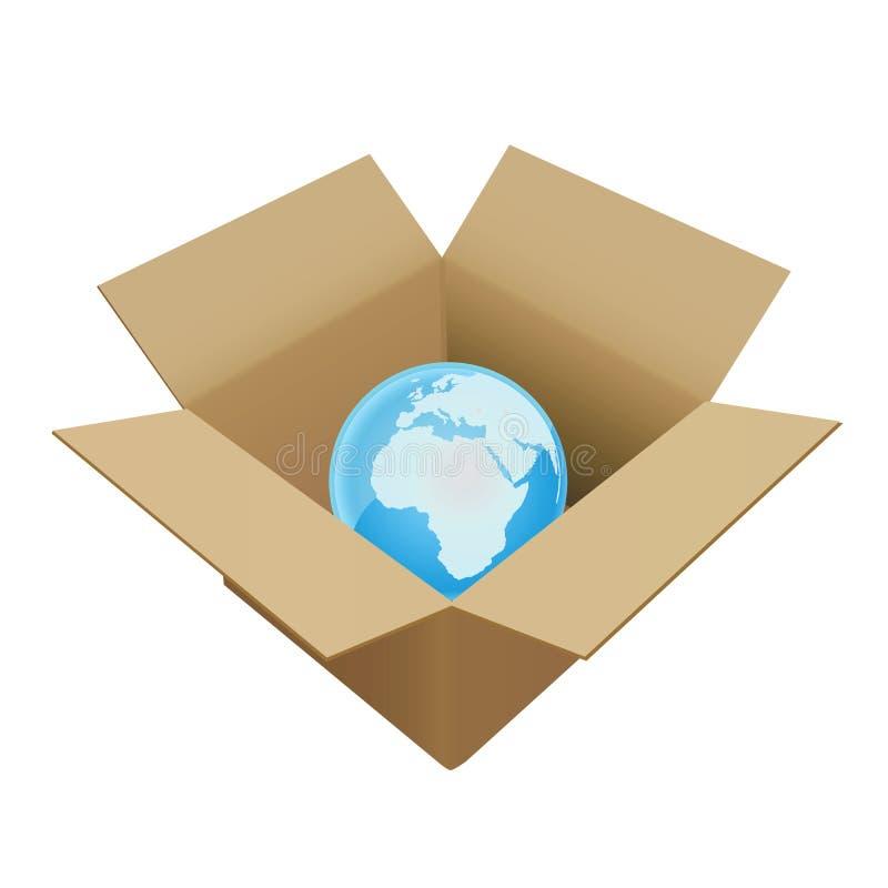 мир коробки иллюстрация вектора