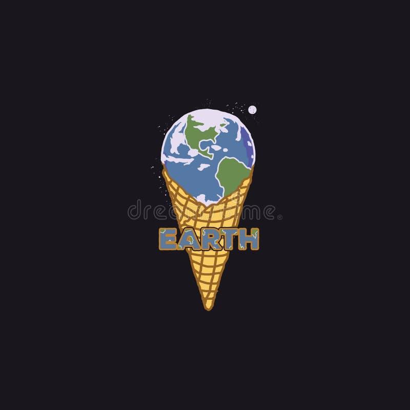 Мир мороженого иллюстрация вектора