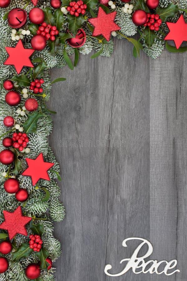 Мир на рождестве стоковое фото