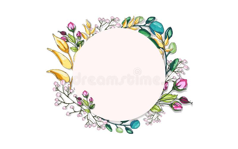 Мир овоща Цветки и хворостины Фантастические поводы бесплатная иллюстрация
