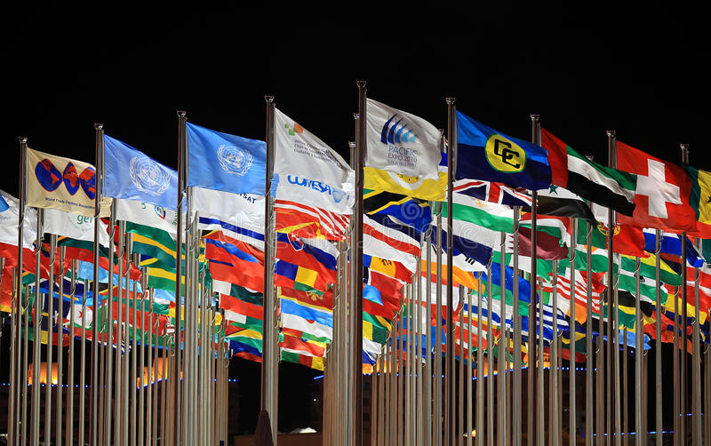 мир организаций флагов стран стоковое фото rf