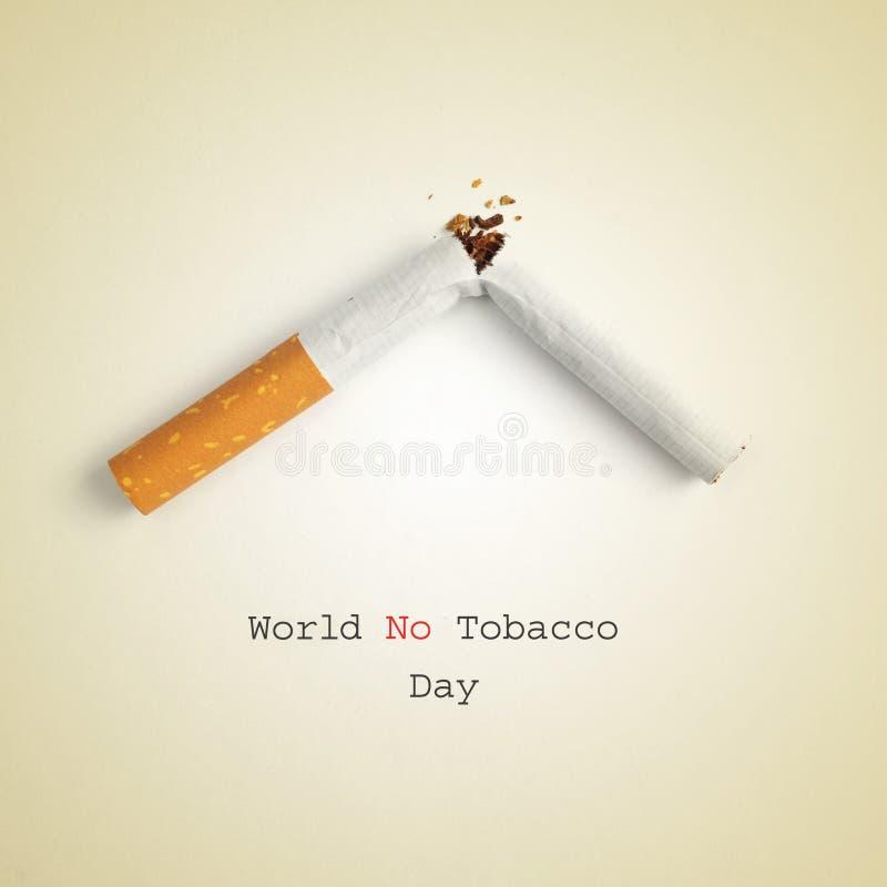 Мир отсутствие дня табака стоковая фотография rf