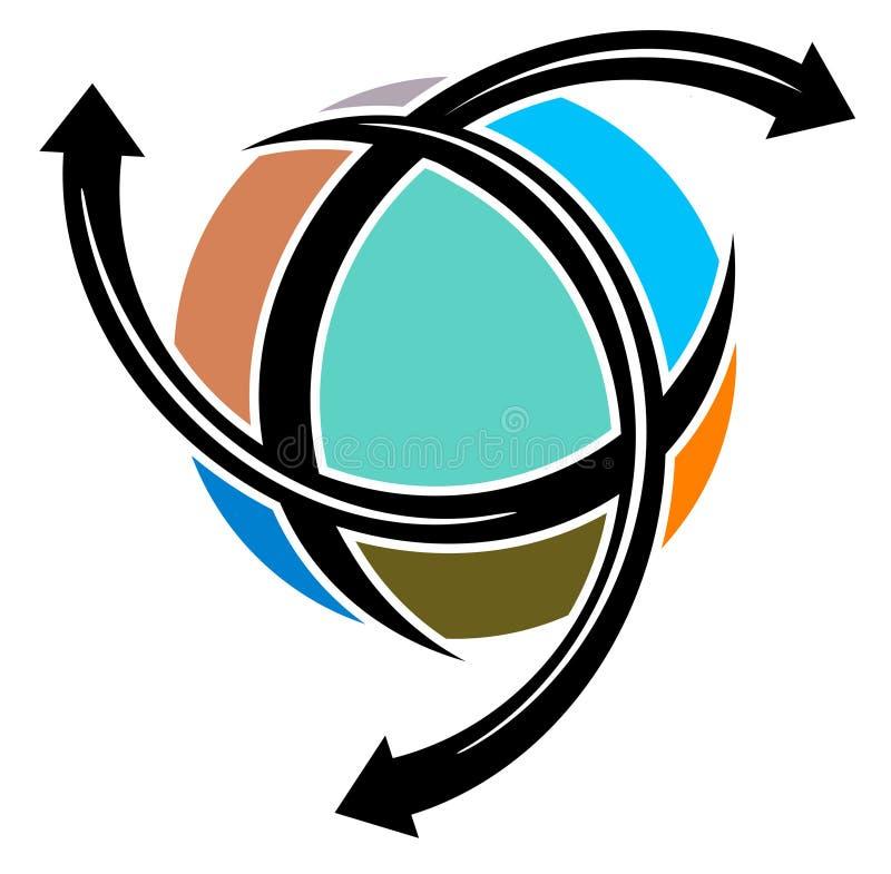 мир перемещения логоса иллюстрация штока