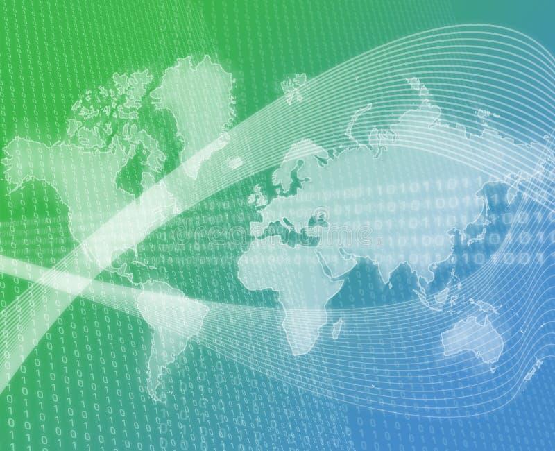 мир переноса зеленого цвета данных иллюстрация штока