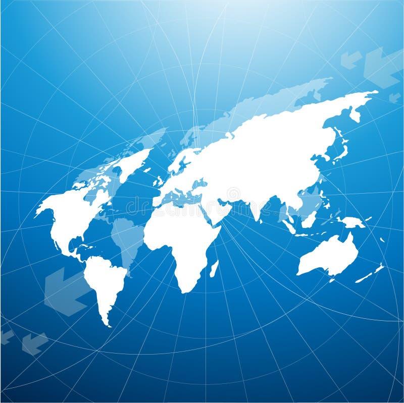 мир перспективы карты иллюстрация вектора
