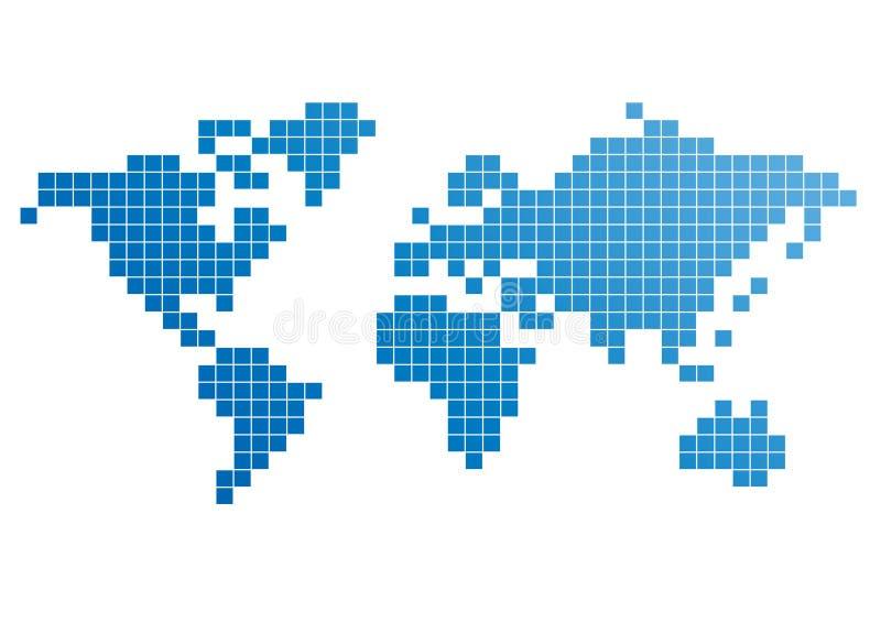 мир пиксела карты иллюстрация штока