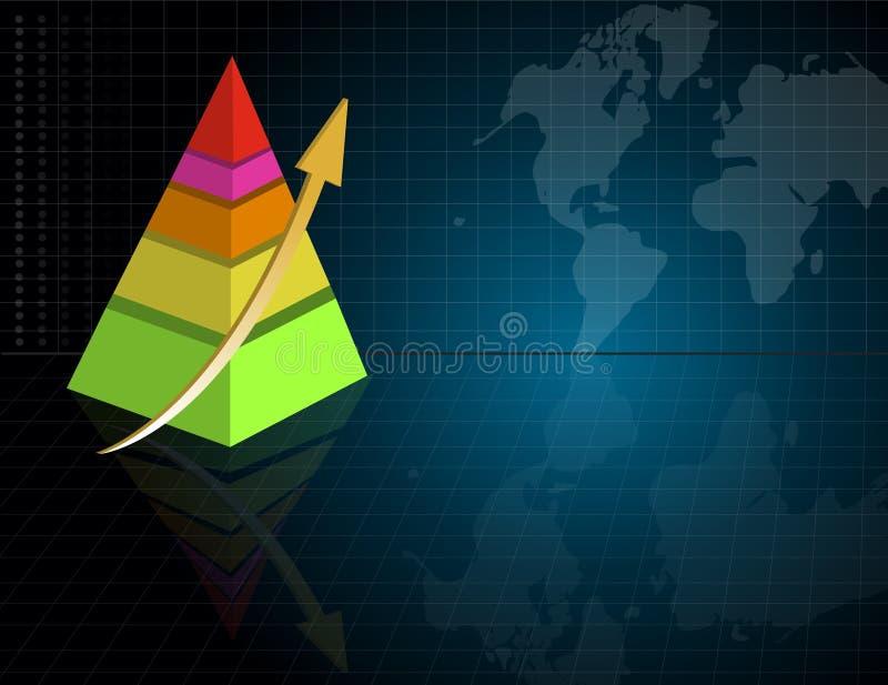 мир пирамидки карты диаграммы дела бесплатная иллюстрация