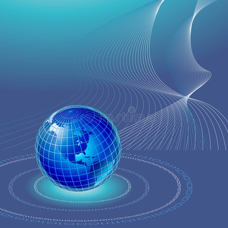мир предпосылки иллюстрация вектора