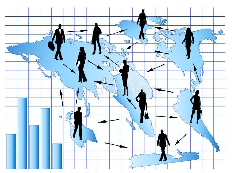 мир представления деловой встречи иллюстрация штока