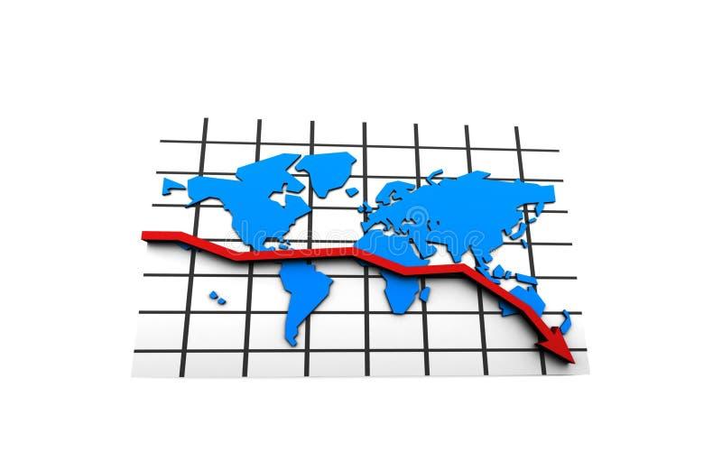 мир рынка кризиса дела иллюстрация штока