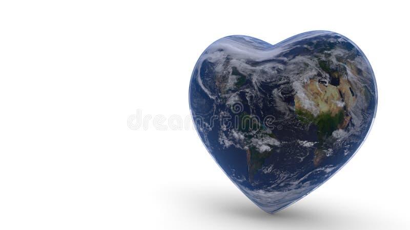 Мир соединяет концепцию предпосылки влюбленности, перевода 3d иллюстрация штока