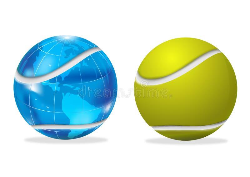 мир тенниса широкий иллюстрация вектора