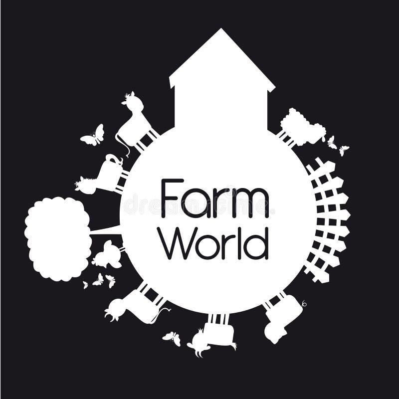мир фермы иллюстрация вектора