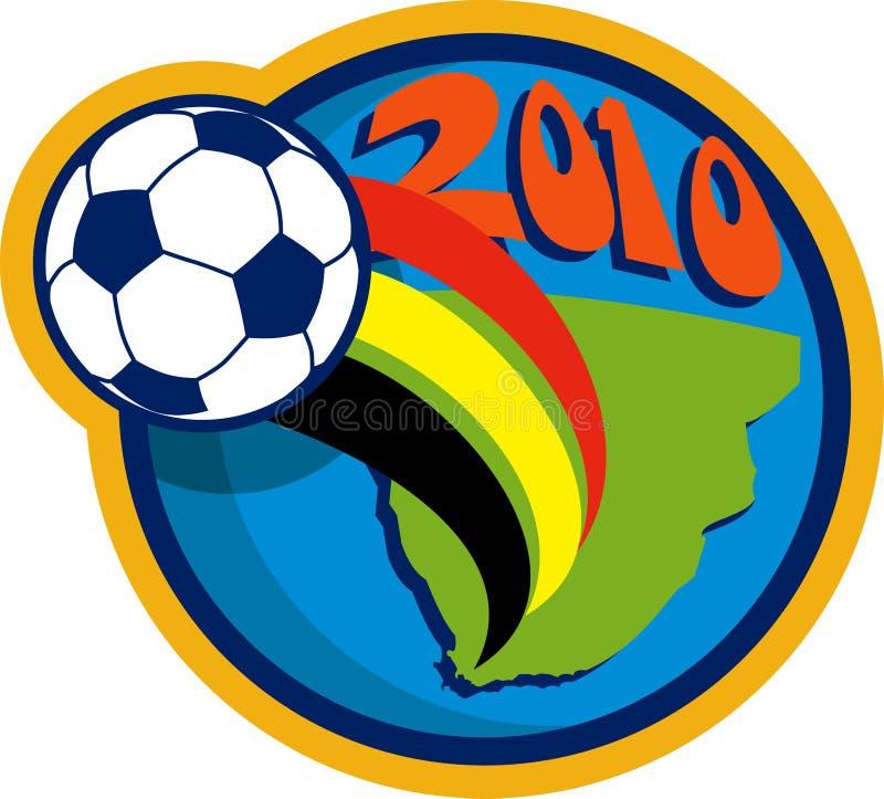 мир футбола 2010 чашек шарового подпятника иллюстрация вектора