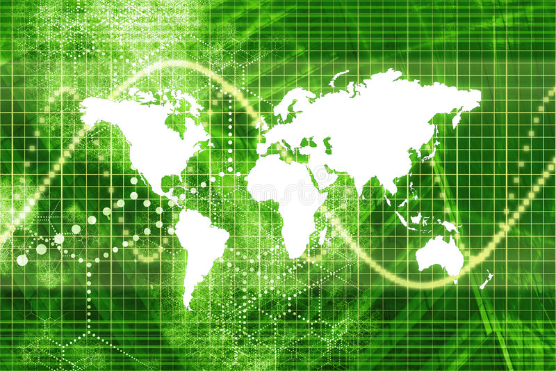 мир штока рынка экономии зеленый иллюстрация штока
