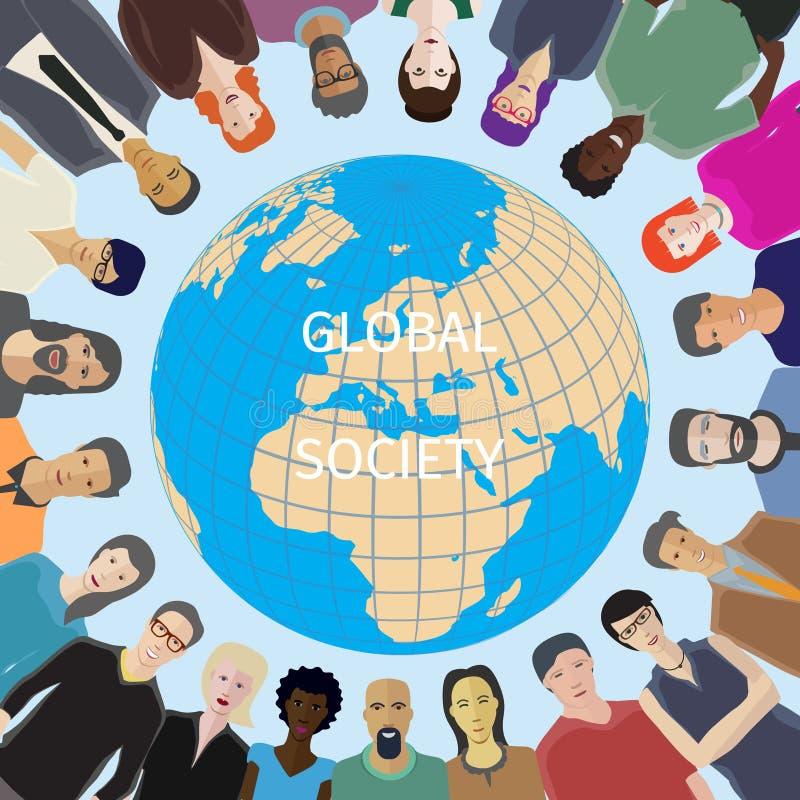Мир для концепции людей бесплатная иллюстрация