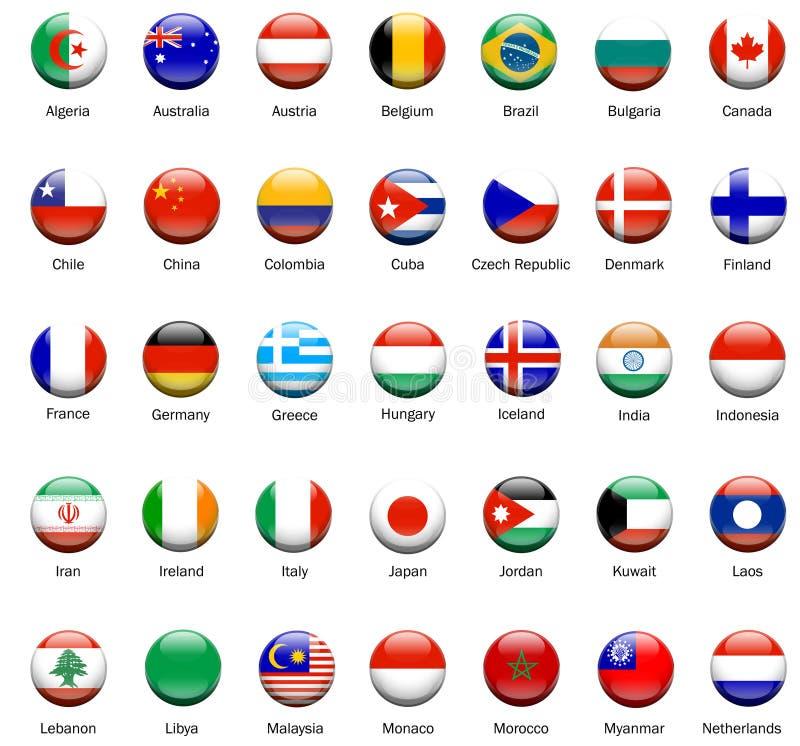 мир 01 иконы флага иллюстрация штока