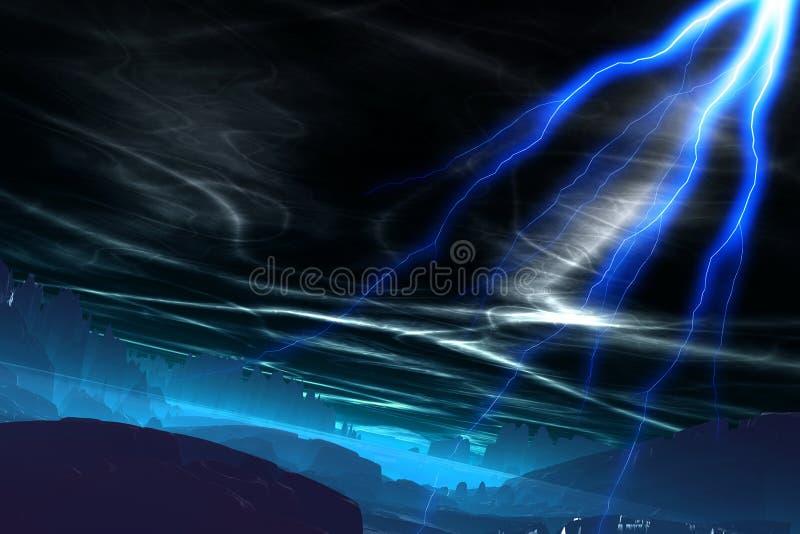 Мир 12 чужеземца иллюстрация штока
