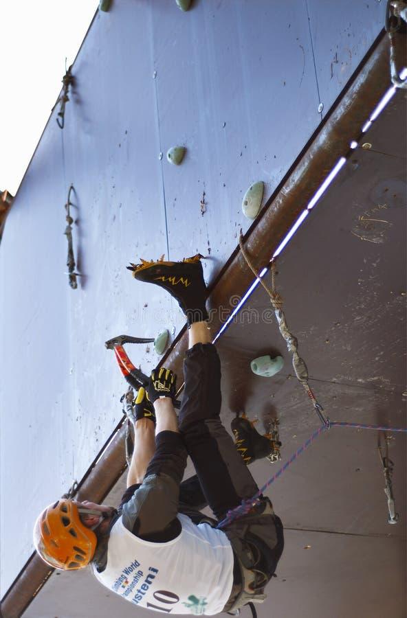 мир 2007 льда чемпионата busteni взбираясь стоковое изображение