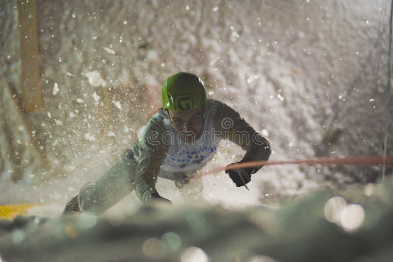 мир 2010 льда чашки чемпионата busteni взбираясь стоковая фотография
