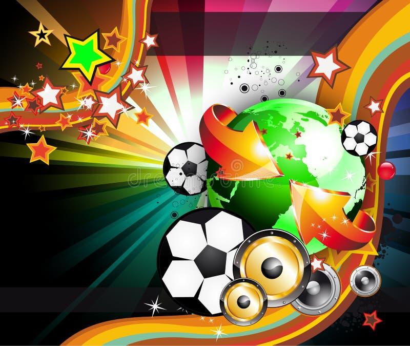 мир 2010 чемпионата предпосылки footbal иллюстрация вектора