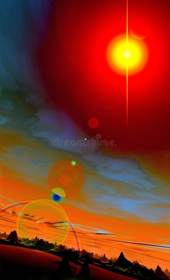 Мир 3 чужеземца иллюстрация вектора