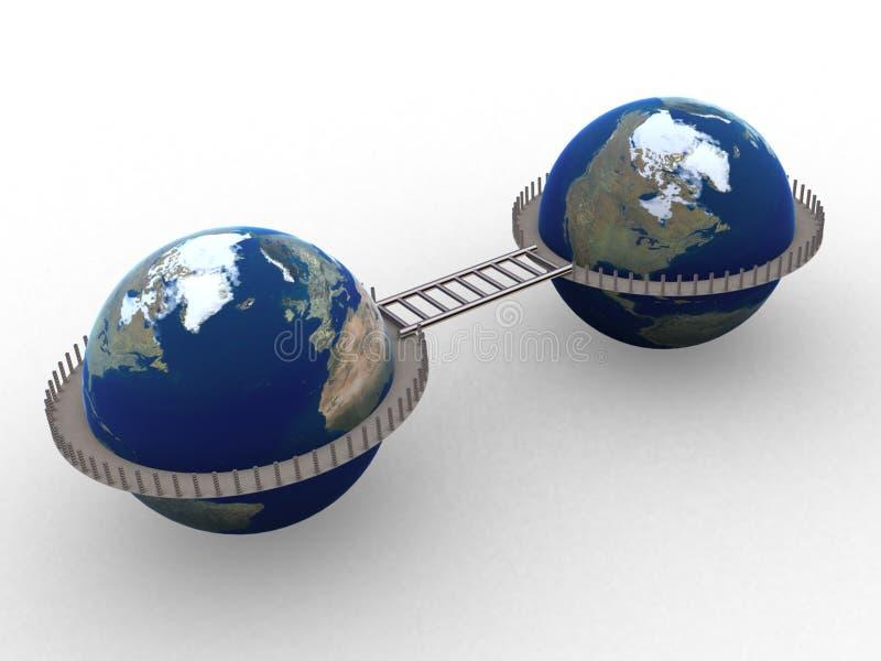 мир 3d иллюстрация вектора