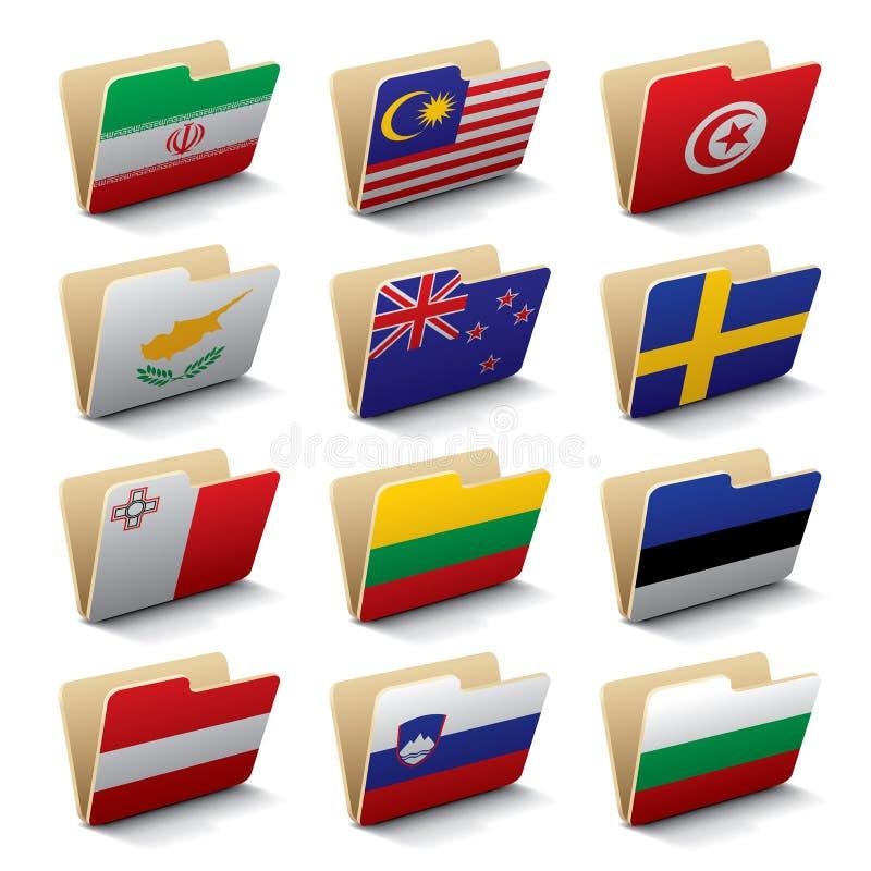 мир 4 икон скоросшивателей иллюстрация штока