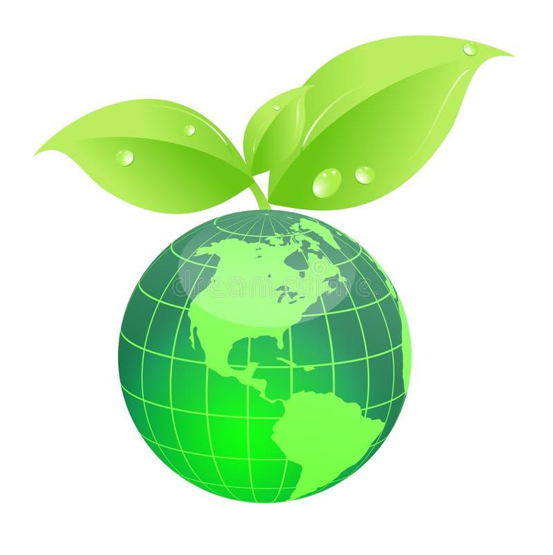 мир eco зеленый иллюстрация штока
