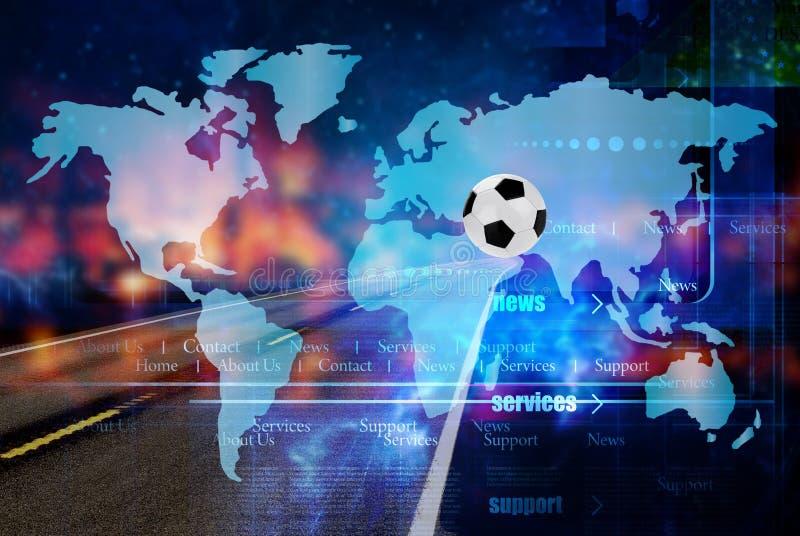 Мир footbal 2022 чемпионата Путешествия иллюстрация вектора