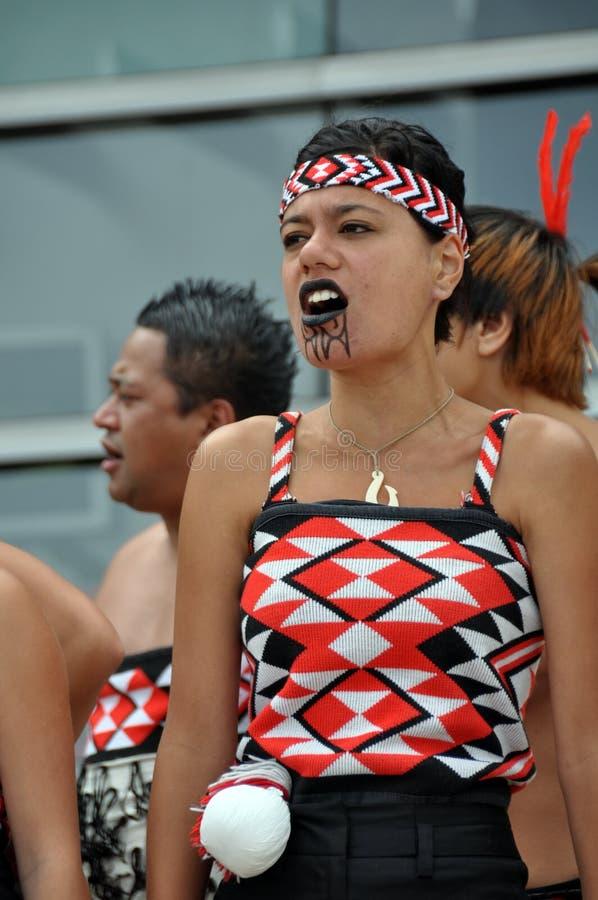 мир maui haka празднества buskers маорийский стоковые изображения