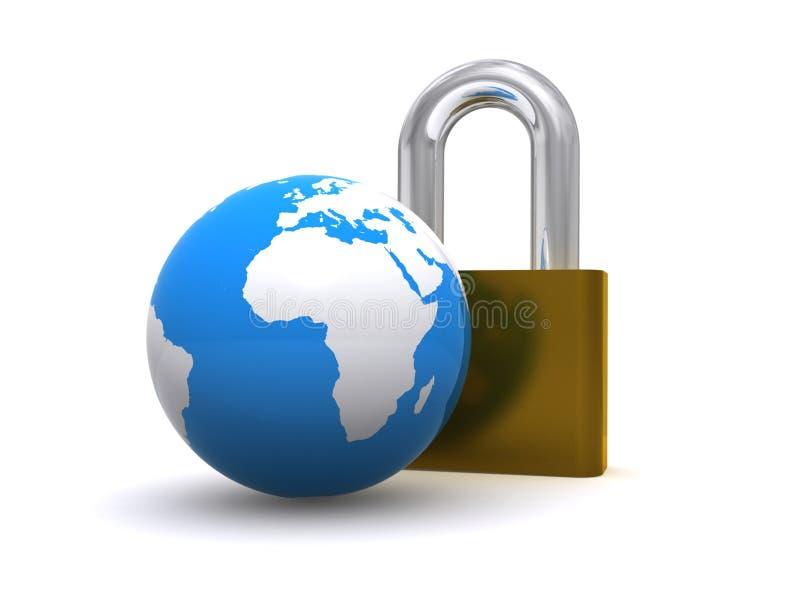 мир padlock глобуса бесплатная иллюстрация