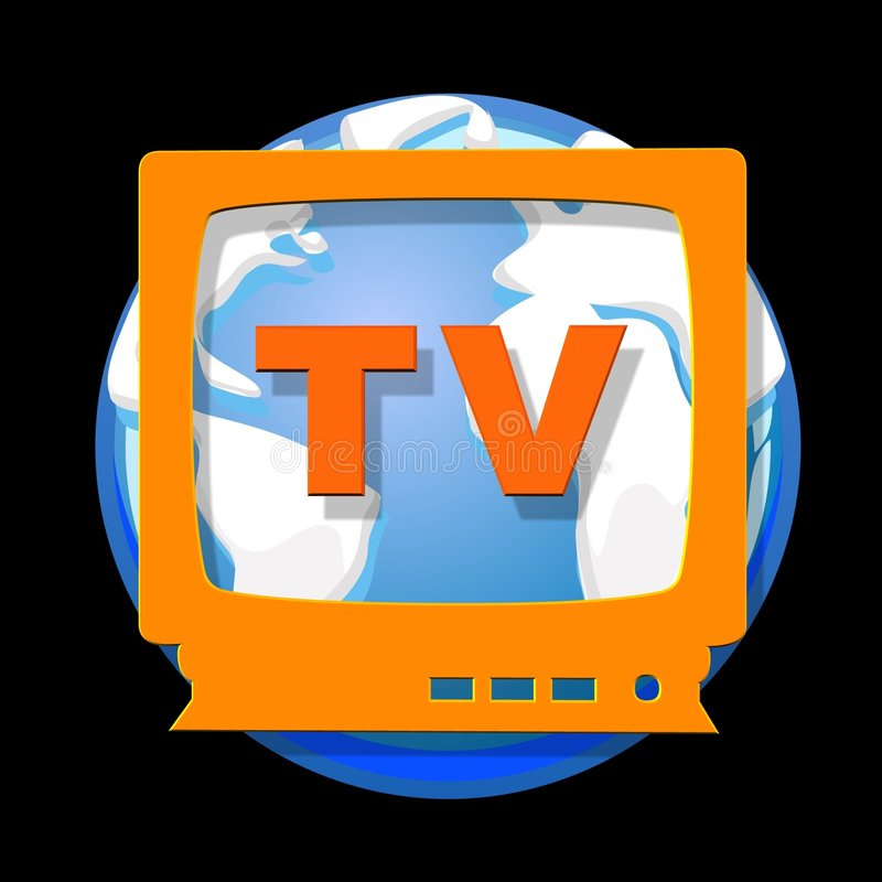 мир tv иллюстрация вектора