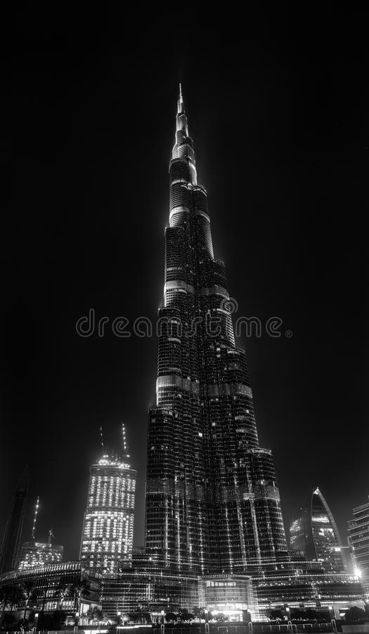 мир UAE башни khalifa Дубай burj самый высокорослый стоковое изображение
