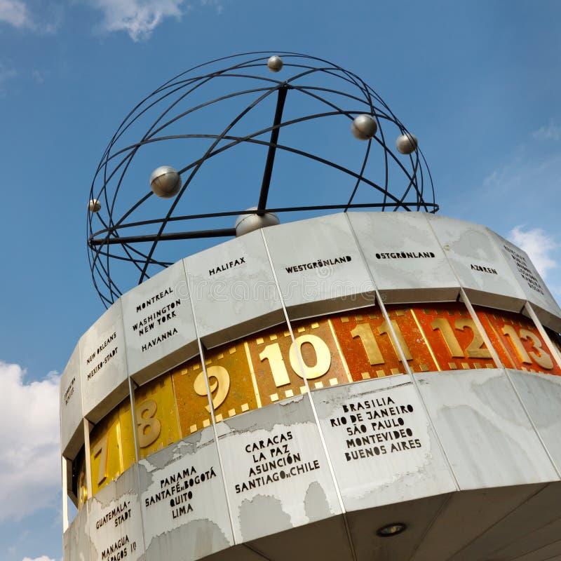 мир weltzeituhr Германии часов berlin стоковая фотография rf