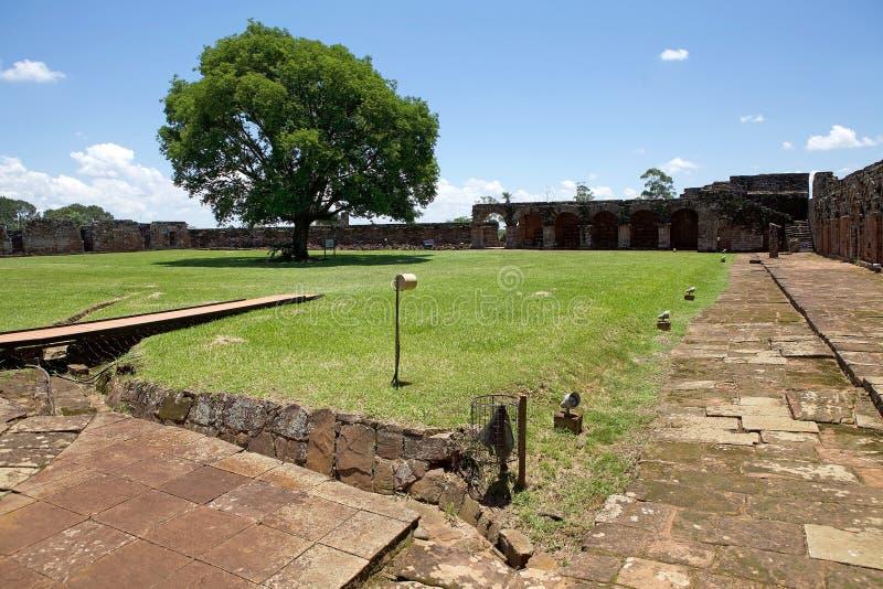 Миссия иезуита Ла Santisima Тринидада de ParanÃ, Парагвая стоковые фотографии rf