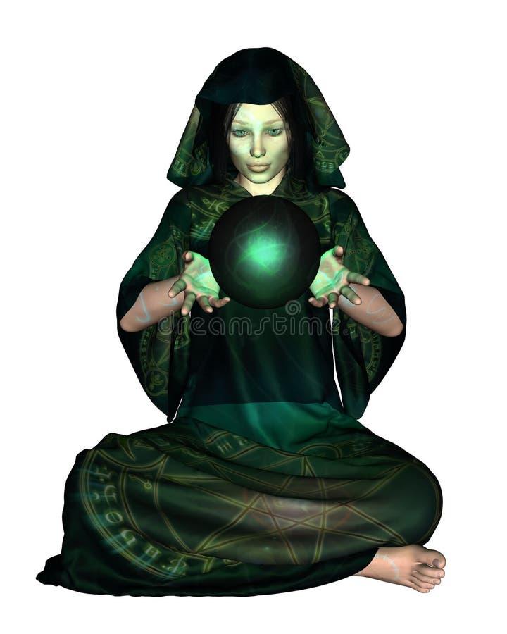 мистик шарика кристаллический женский бесплатная иллюстрация