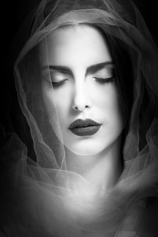 Мистическая красота женщины стоковое фото rf