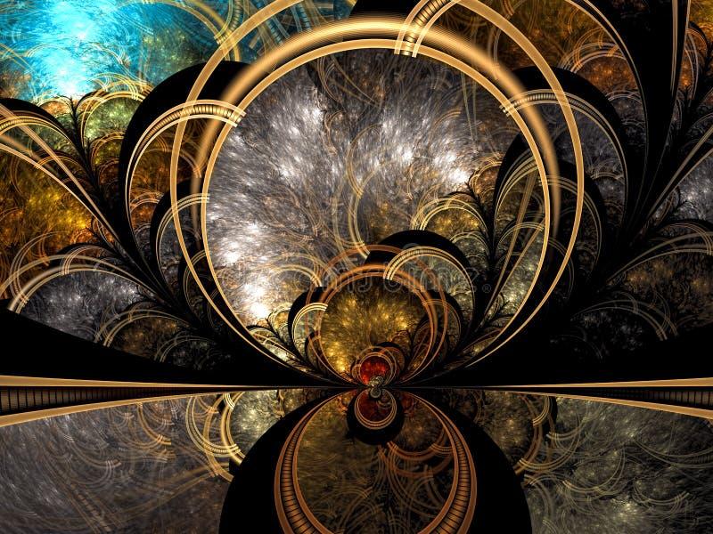 Мистическая предпосылка фрактали - конспект цифров произвел изображение бесплатная иллюстрация