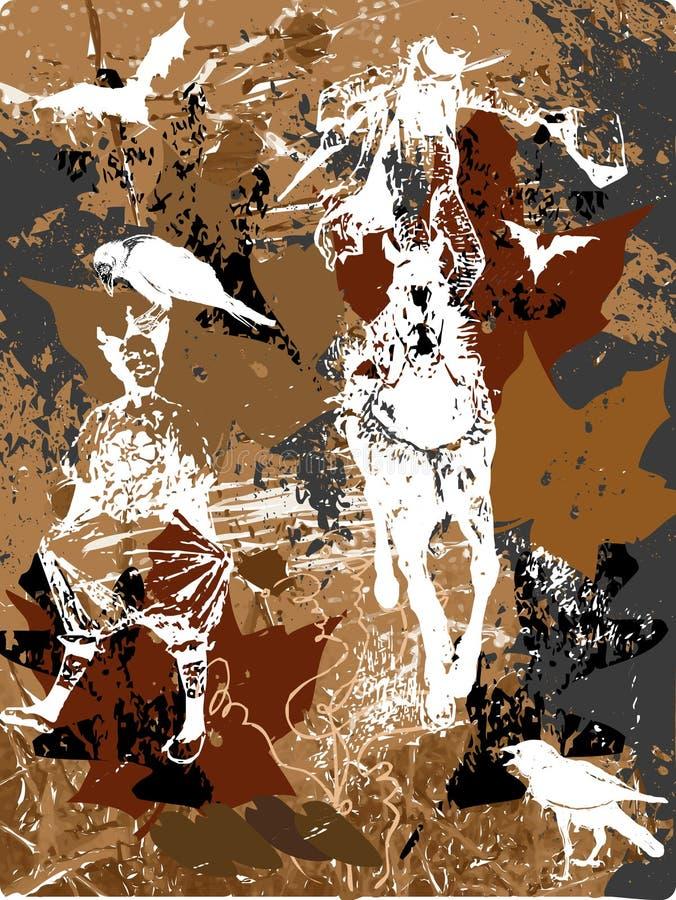 мистический всадник бесплатная иллюстрация