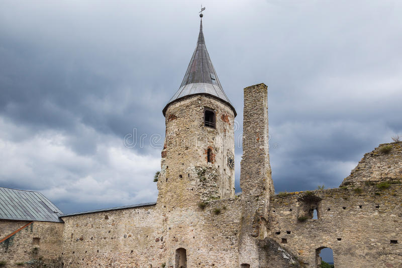 Мистический замок в Haapsalu стоковое фото rf