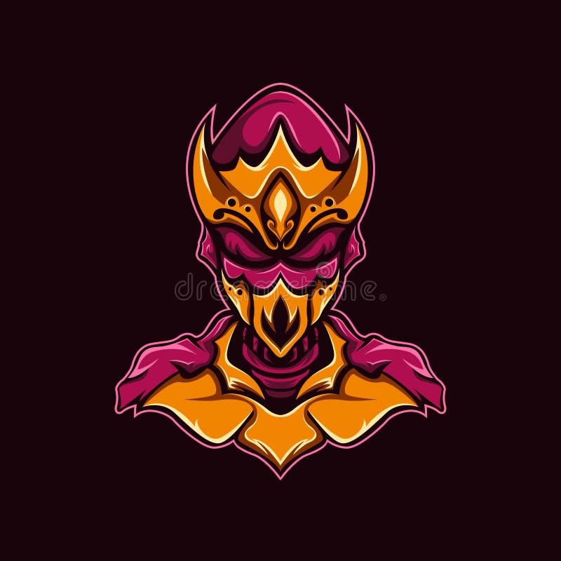 Мистический логотип воина бесплатная иллюстрация