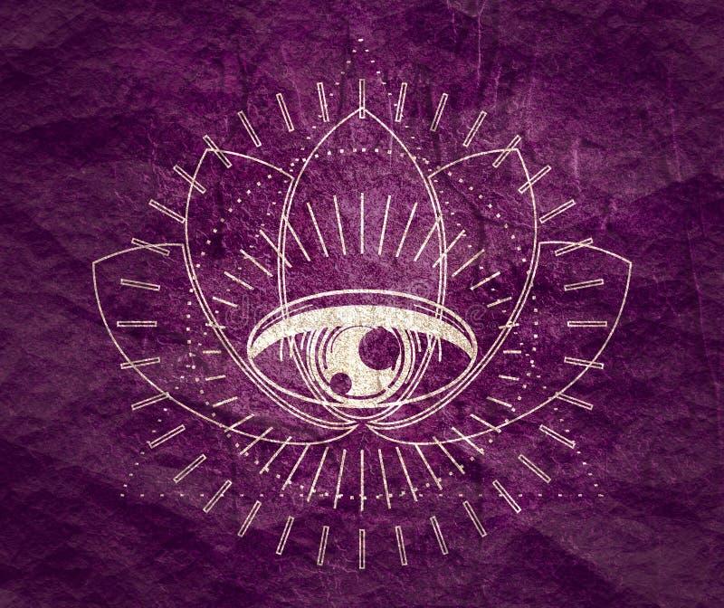 Мистический оккультный символ стоковые изображения rf