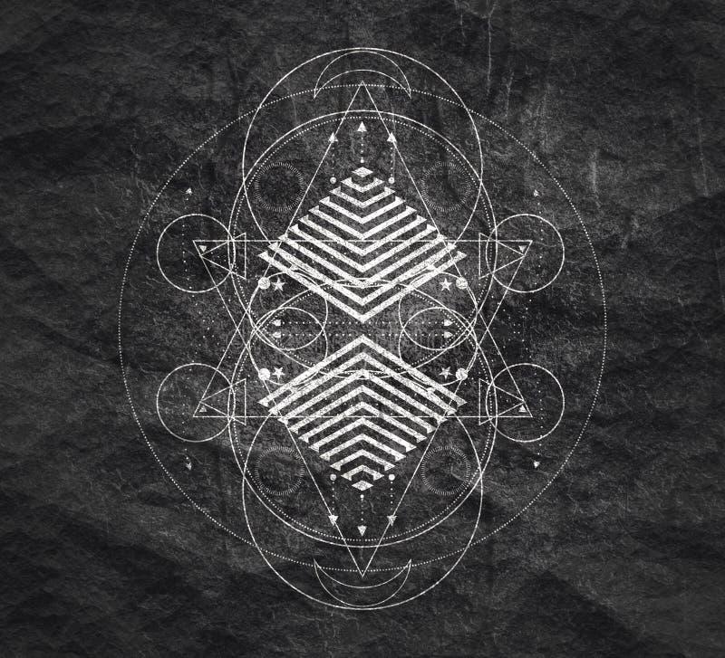 Мистический оккультный символ стоковое изображение