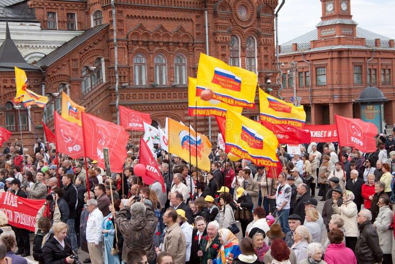 митинг протеста оппозиционных партий стоковое фото