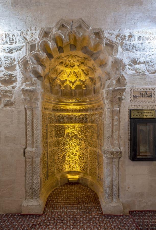 Михраб усыпальницы Kubettin Ilgazi в Mardin стоковые изображения rf