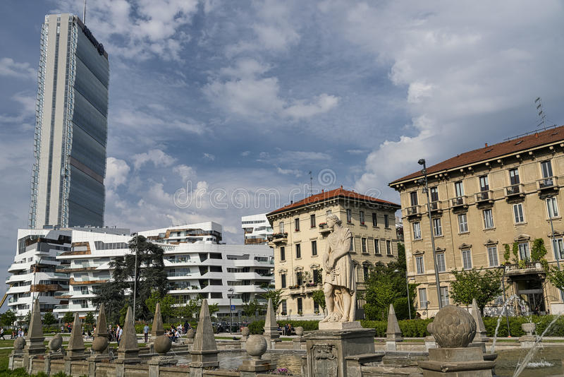 Милан (Италия): Citylife стоковое фото