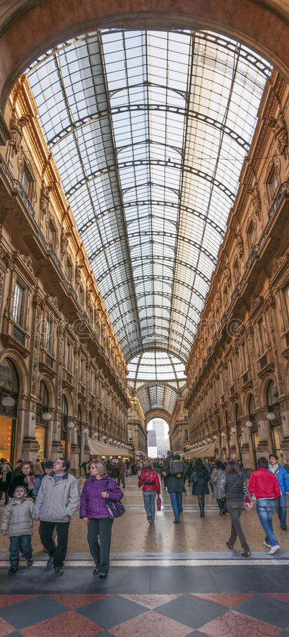 Милан, Италия. Galeria Vittorio Emanuele II стоковое изображение rf